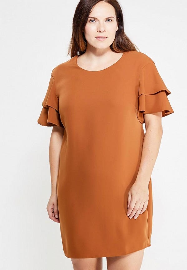 Фото - женское платье Violeta by Mango коричневого цвета