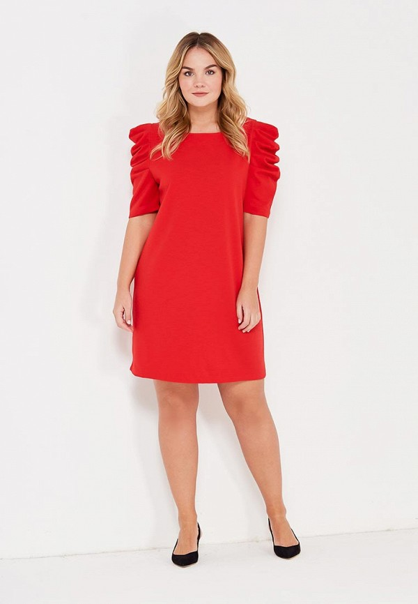 Фото 2 - женское платье Violeta by Mango красного цвета