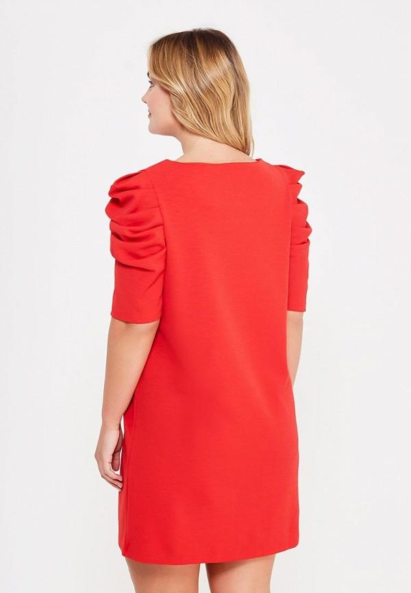 Фото 3 - женское платье Violeta by Mango красного цвета