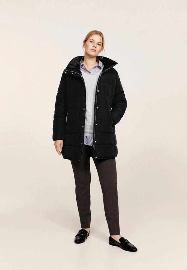 Фото - Куртку утепленная Violeta by Mango черного цвета