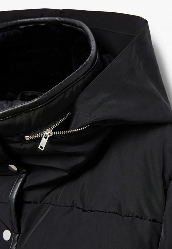 Фото 3 - Куртку утепленная Violeta by Mango черного цвета