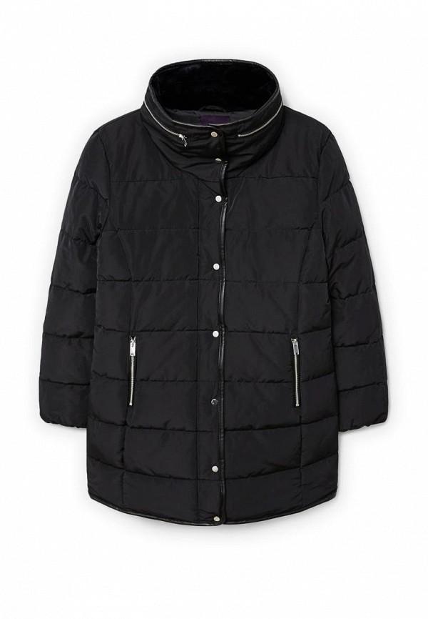 Фото 4 - Куртку утепленная Violeta by Mango черного цвета
