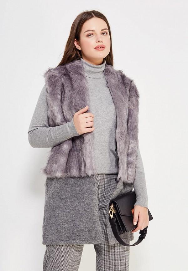 Фото - женский жилет Violeta by Mango серого цвета