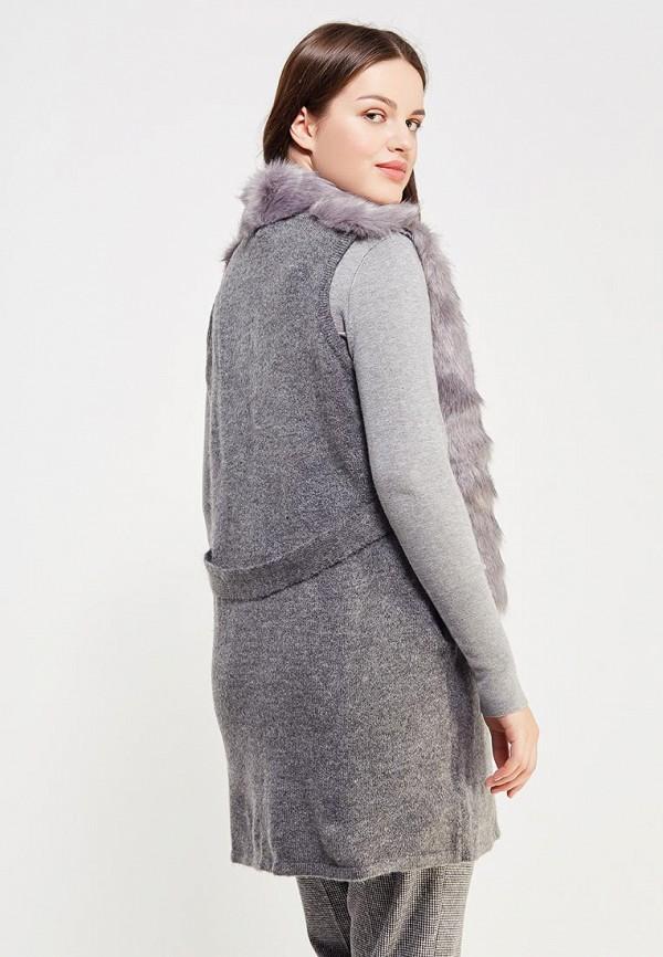 Фото 3 - женский жилет Violeta by Mango серого цвета
