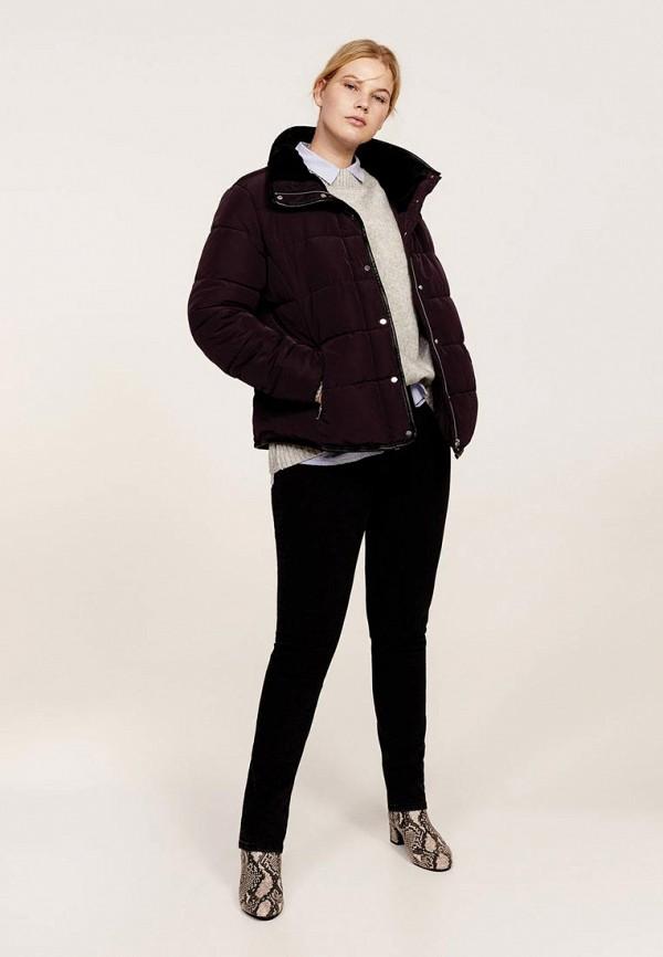 Фото - Куртку утепленная Violeta by Mango бордового цвета