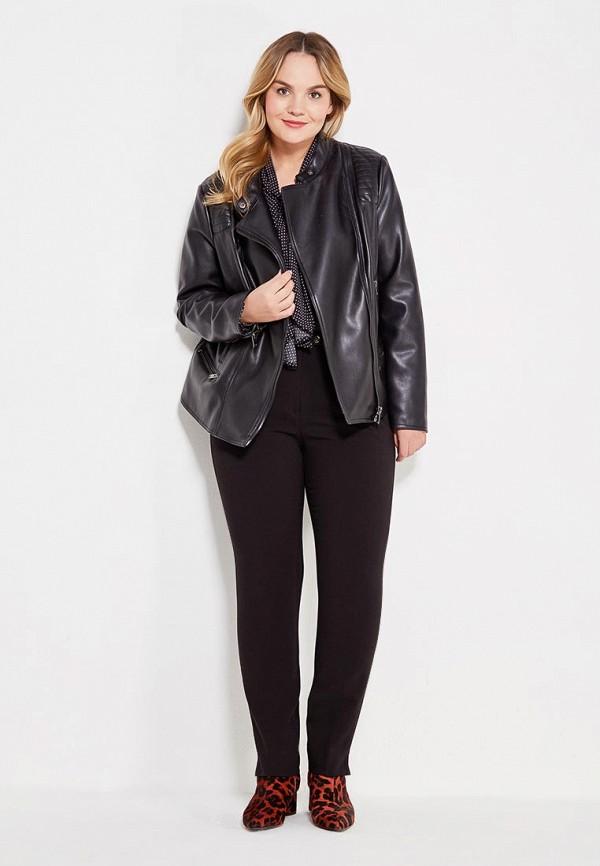 Фото 2 - мужские брюки Violeta by Mango черного цвета