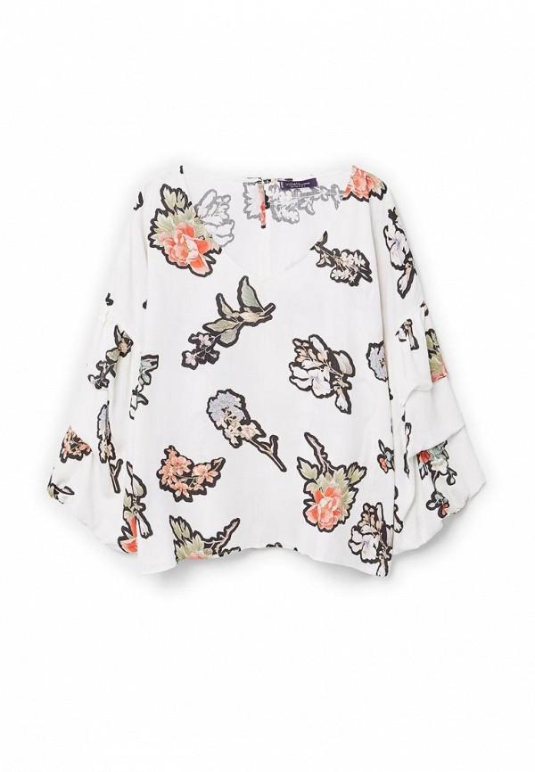 Фото 3 - женскую блузку Violeta by Mango белого цвета