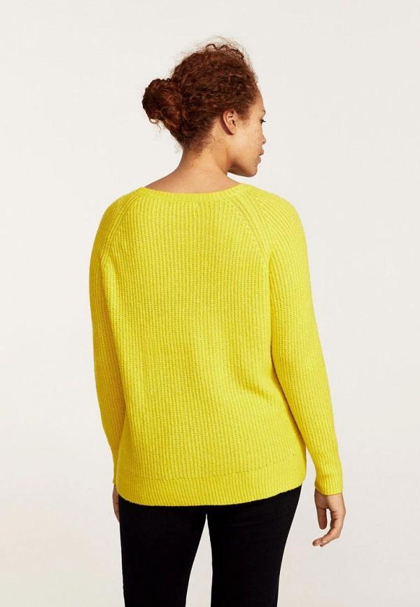 Фото 2 - женский джемпер Violeta by Mango желтого цвета