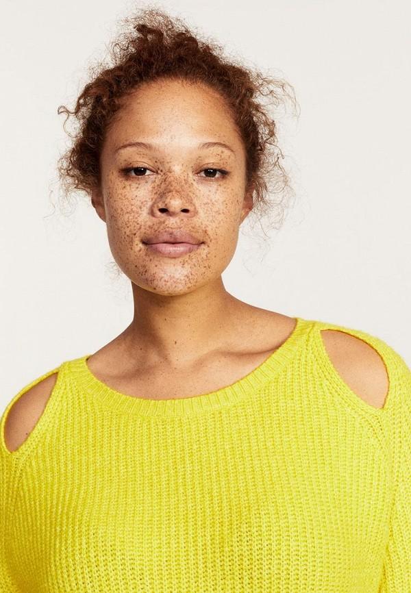 Фото 3 - женский джемпер Violeta by Mango желтого цвета