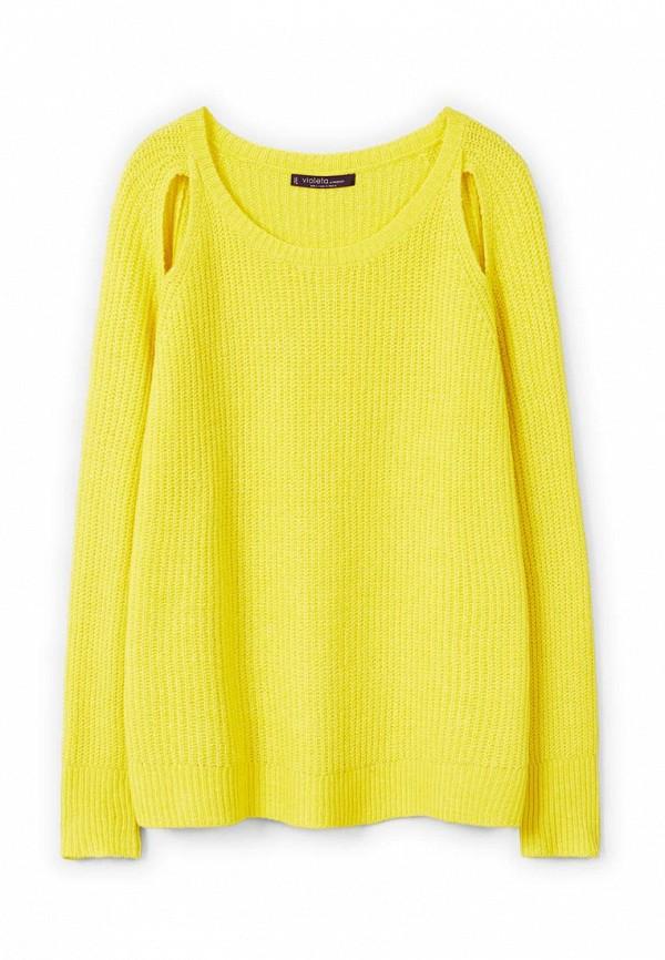 Фото 4 - женский джемпер Violeta by Mango желтого цвета