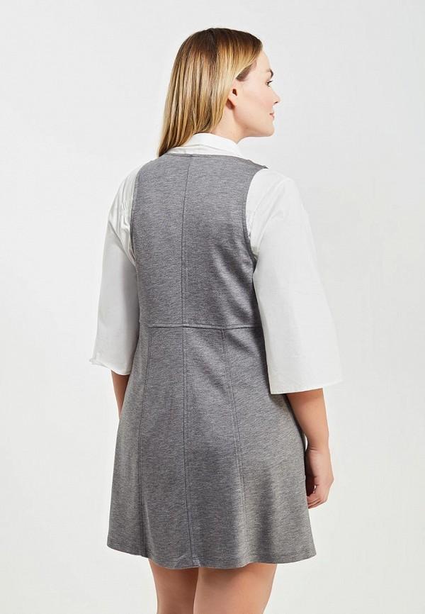 Фото 3 - женское платье Violeta by Mango серого цвета