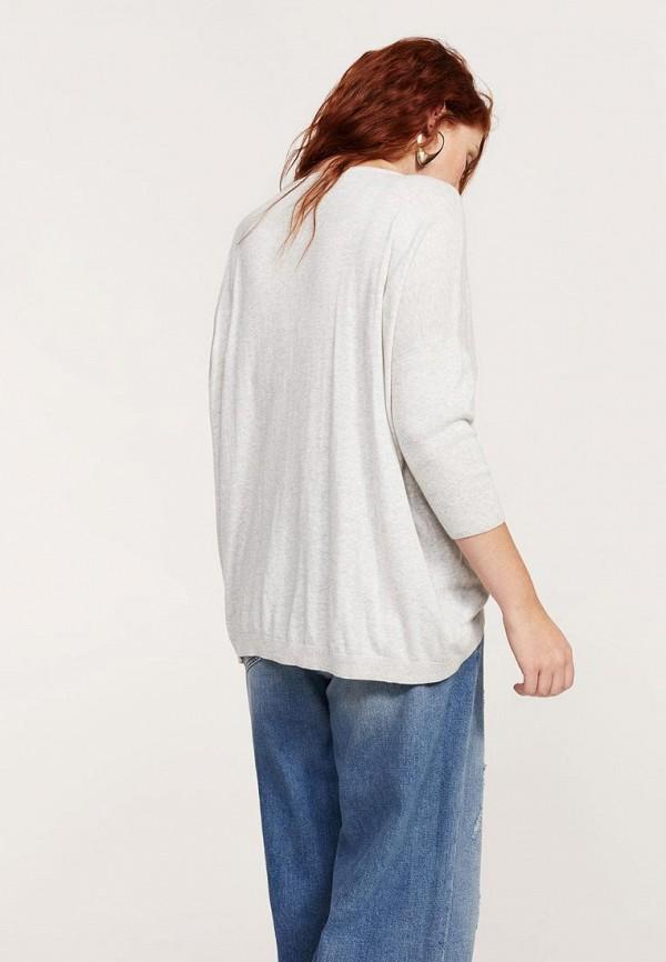 Фото 2 - женский джемпер Violeta by Mango серого цвета