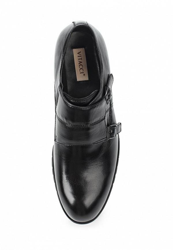 Фото 4 - мужские туфли Vitacci черного цвета
