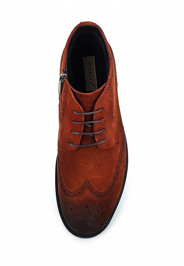 Фото 4 - мужские ботинки и полуботинки Vitacci коричневого цвета