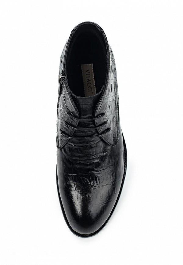 Фото 4 - Ботинки классические Vitacci черного цвета