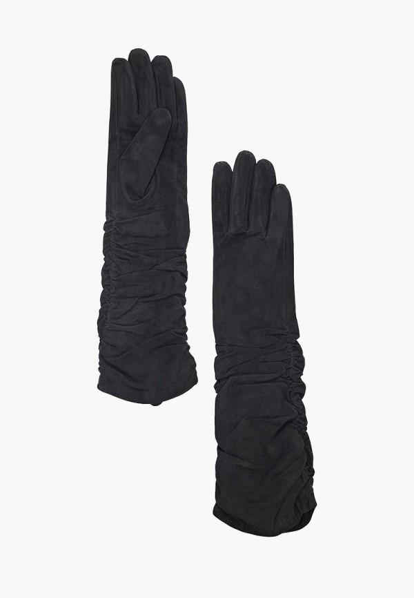 Фото - женские кожаные перчатки Vitacci черного цвета