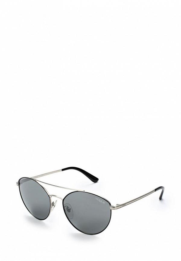 Очки солнцезащитные Vogue® Eyewear Vogue® Eyewear VO007DWABYA2 vogue vogel очки черного кадра серебряного покрытия линза мода полной оправе очки vo5067sd w44s6g 56мм