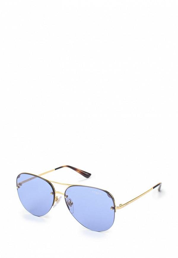 Очки солнцезащитные Vogue® Eyewear, VO4080S 280/76, VO007DWAUPA7, золотой, Весна-лето 2018  - купить со скидкой
