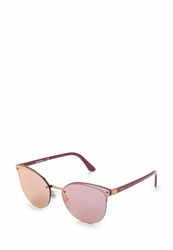 Купить Очки солнцезащитные Vogue® Eyewear, VO4089S 50754Z, VO007DWAUPC8, розовый, Весна-лето 2018