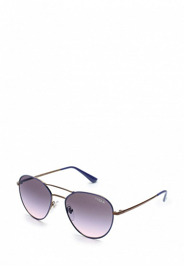 Очки солнцезащитные Vogue® Eyewear, VO4060S 5080H9, VO007DWAUPD0, синий, Весна-лето 2018  - купить со скидкой