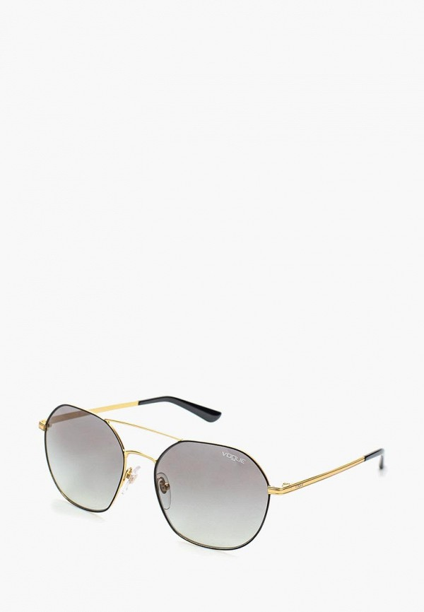 Очки солнцезащитные Vogue® Eyewear Vogue® Eyewear VO007DWOZH54 vogue vogel очки черного кадра серебряного покрытия линза мода полной оправе очки vo5067sd w44s6g 56мм