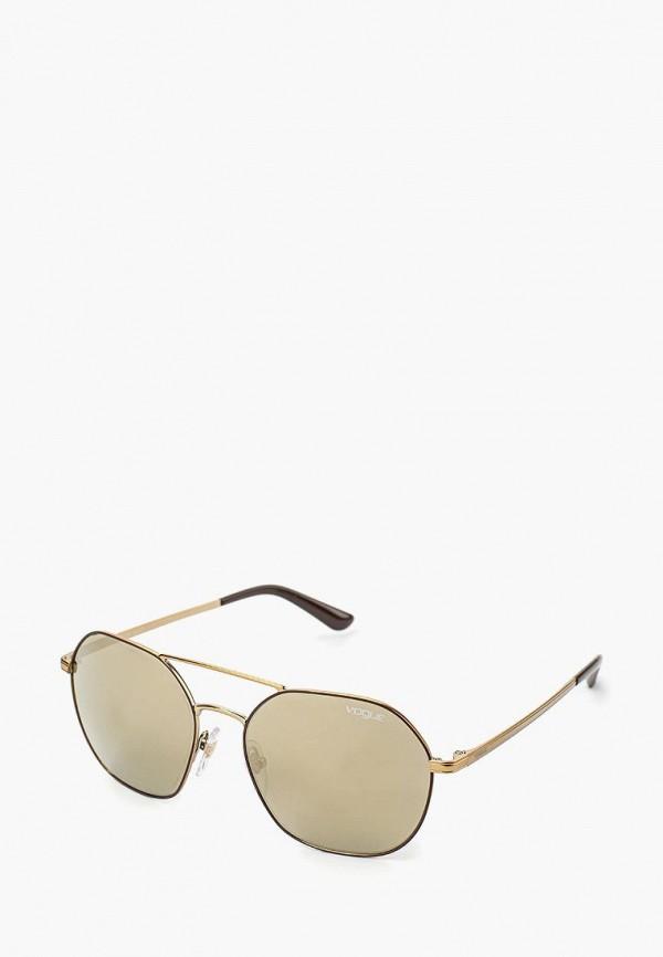 Купить Очки солнцезащитные Vogue® Eyewear, VO4022S 50215A, VO007DWOZH55, золотой, Весна-лето 2018