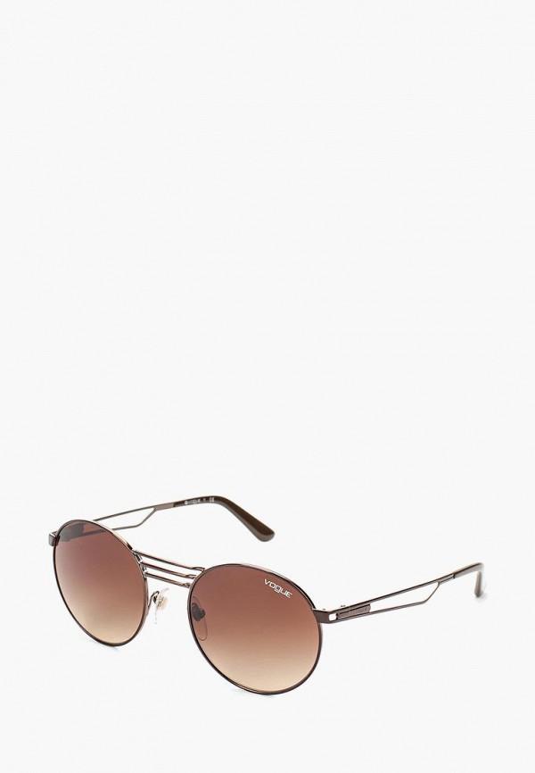 Очки солнцезащитные Vogue® Eyewear Vogue® Eyewear VO007DWOZH65 vogue vogel очки черного кадра серебряного покрытия линза мода полной оправе очки vo5067sd w44s6g 56мм