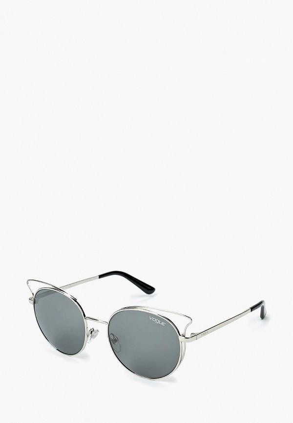 Купить Очки солнцезащитные Vogue® Eyewear, VO4048S 323/6G, VO007DWQGU49, серебряный, Весна-лето 2018