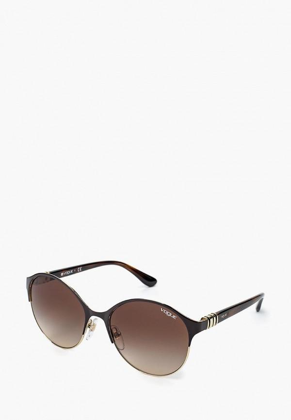 Очки солнцезащитные Vogue® Eyewear Vogue® Eyewear VO007DWQGU55 vogue vogel очки черного кадра серебряного покрытия линза мода полной оправе очки vo5067sd w44s6g 56мм