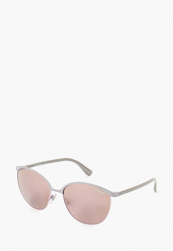 Очки солнцезащитные Vogue® Eyewear Vogue® Eyewear VO007DWQGU76 vogue vogel очки черного кадра серебряного покрытия линза мода полной оправе очки vo5067sd w44s6g 56мм