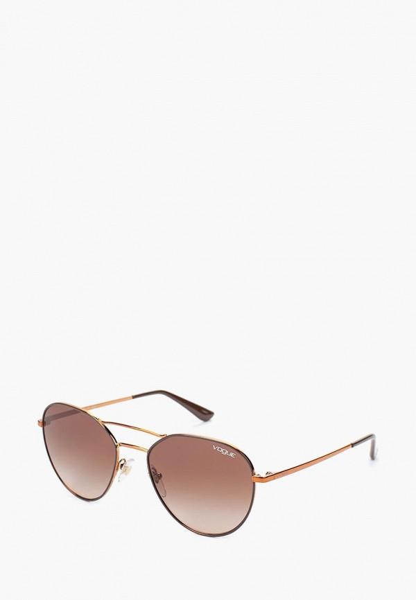 Очки солнцезащитные Vogue® Eyewear Vogue® Eyewear VO007DWTZD77 vogue vogel очки черного кадра серебряного покрытия линза мода полной оправе очки vo5067sd w44s6g 56мм