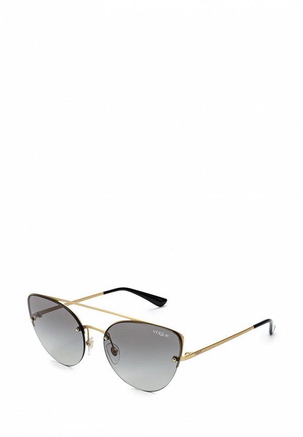 Купить Очки солнцезащитные Vogue® Eyewear, VO4074S 280/11, VO007DWZBF26, золотой, Весна-лето 2018