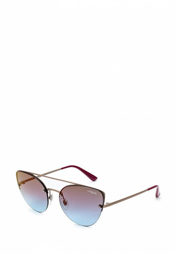 Купить Очки солнцезащитные Vogue® Eyewear, VO4074S 5075H7, VO007DWZBF28, золотой, Весна-лето 2018