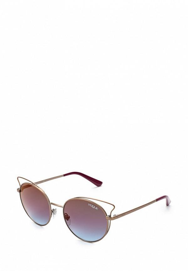 Купить Очки солнцезащитные Vogue® Eyewear, VO4048S 5075H7, VO007DWZBF43, золотой, Весна-лето 2018