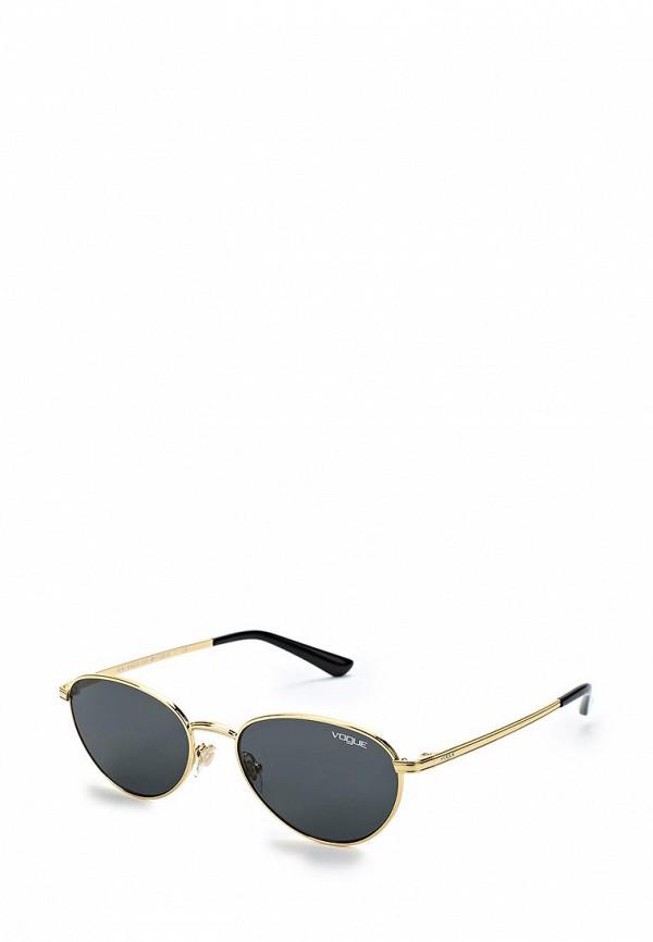 Купить Очки солнцезащитные Vogue® Eyewear, VO4082S 280/87, VO007DWZBF57, золотой, Весна-лето 2018