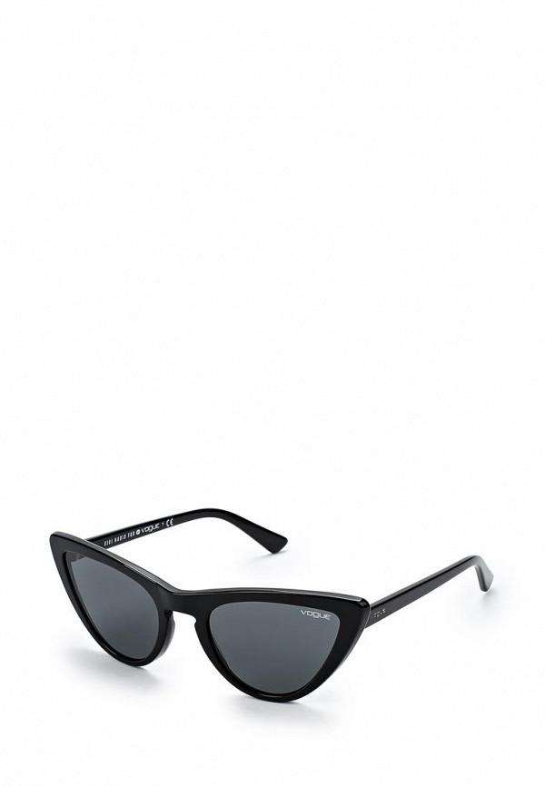 Купить Очки солнцезащитные Vogue® Eyewear, VO5211S W44/87, VO007DWZBF62, черный, Весна-лето 2018