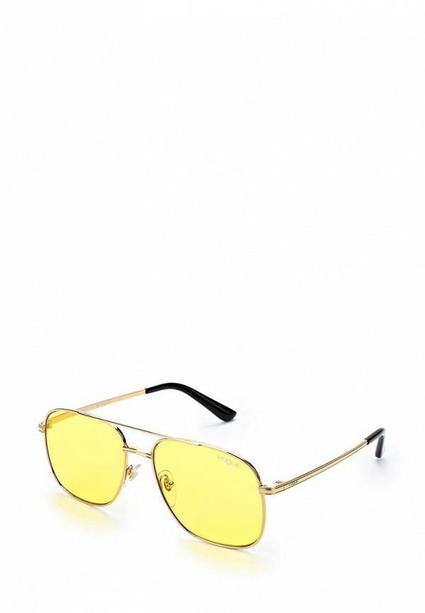 Купить Очки солнцезащитные Vogue® Eyewear, VO4083S 280/85, VO007DWZBF65, золотой, Весна-лето 2018
