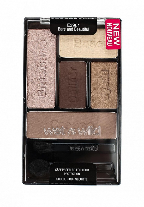 Тени Wet n Wild Для Век Набор 5 Тонов Color Icon Eye Shadow Palette E3961 bare and beatiful