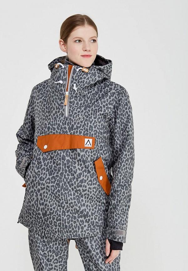 Куртка горнолыжная Wear Colour цвет серый сезон зима страна Китай размер 44, 46