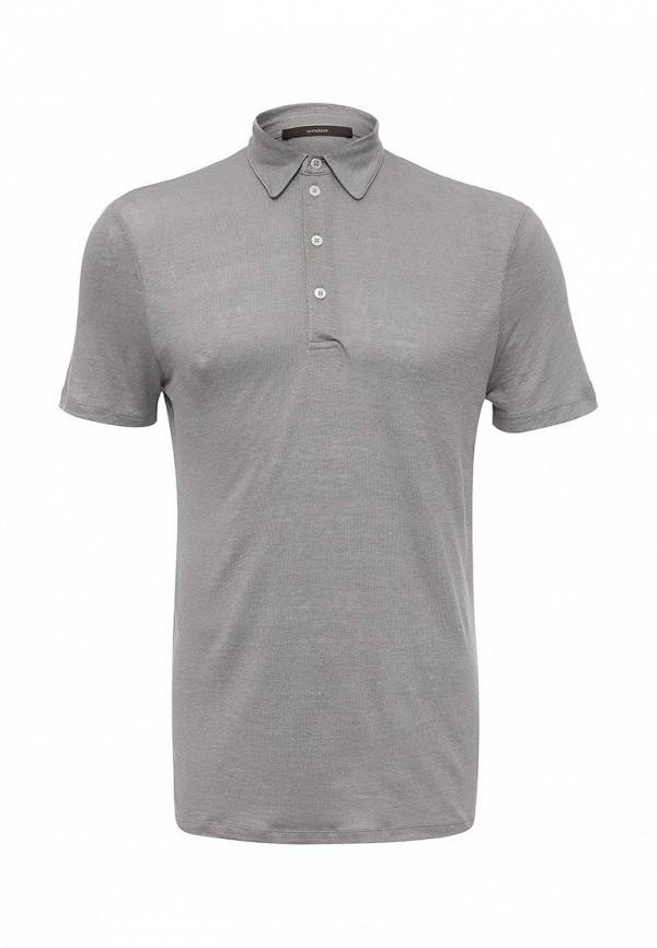 Фото - мужское поло Windsor серого цвета