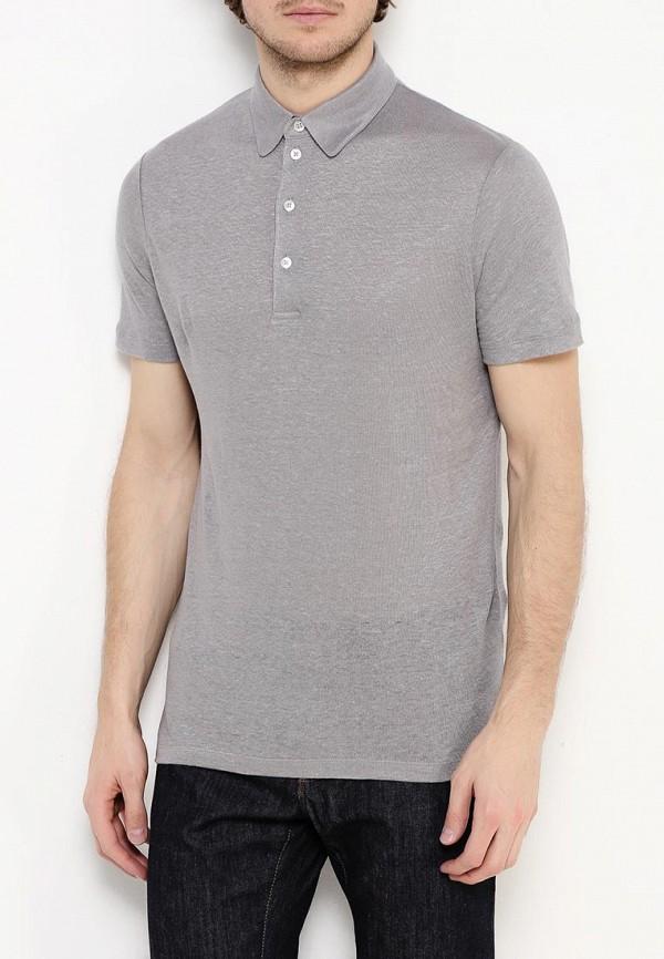 Фото 3 - мужское поло Windsor серого цвета