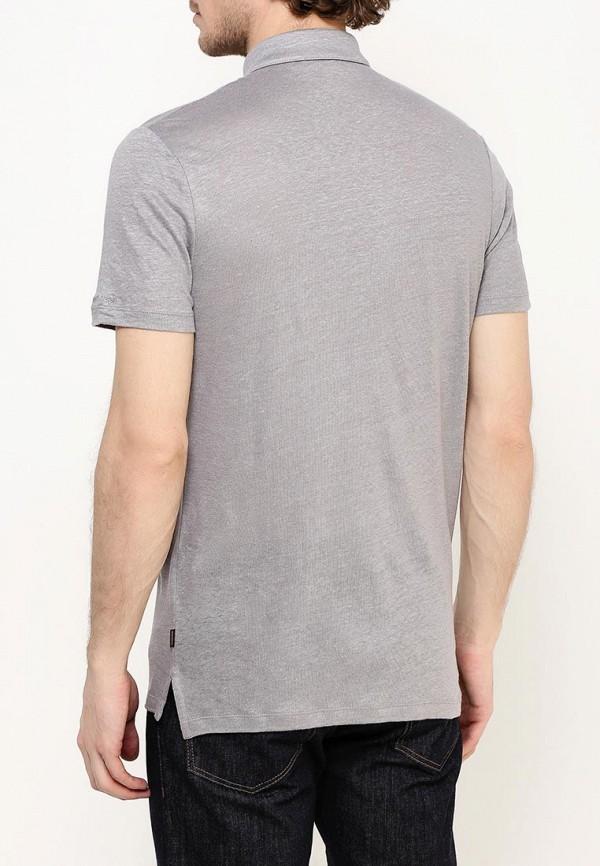 Фото 4 - мужское поло Windsor серого цвета