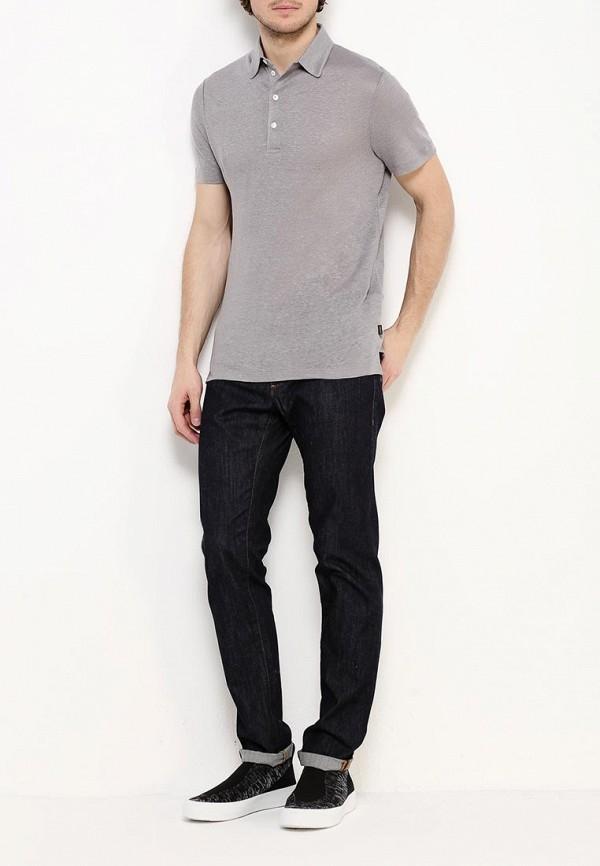 Фото 6 - мужское поло Windsor серого цвета