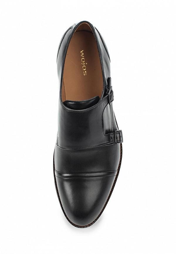 Фото 4 - мужские туфли Wojas черного цвета