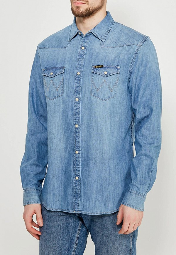 Рубашка джинсовая Wrangler Wrangler WR224EMAPFF8 икона янтарная богородица скоропослушница кян 2 305