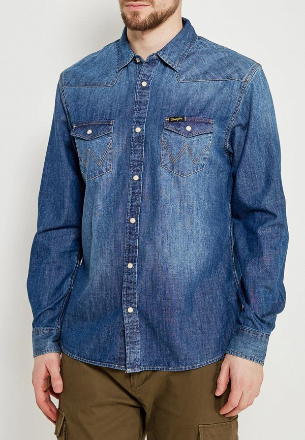 Рубашка джинсовая Wrangler Wrangler WR224EMAPFF9 рубашка wrangler wrangler wr224emapff2