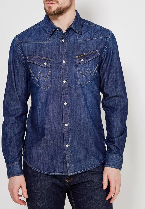 Рубашка джинсовая Wrangler Wrangler WR224EMAPFG0 рубашка джинсовая wrangler wrangler wr224emvhf26
