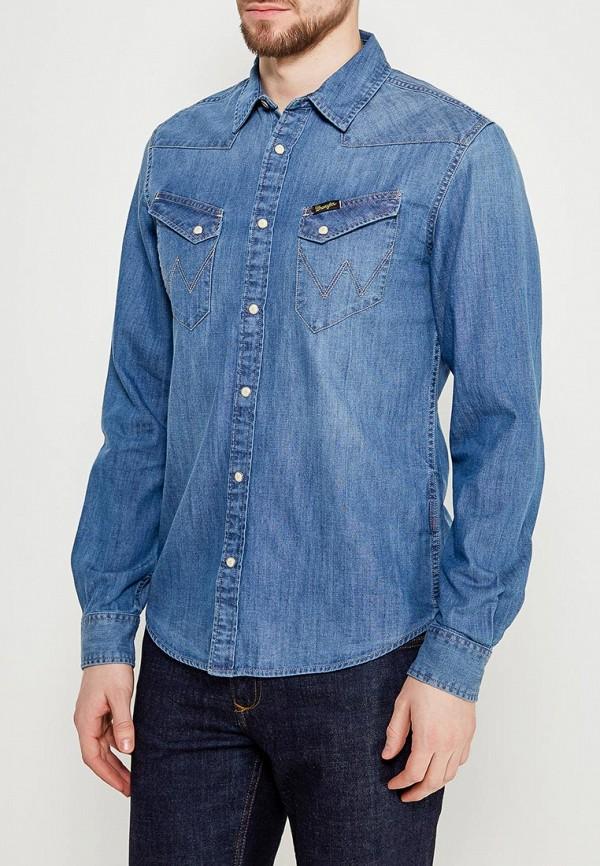 Рубашка джинсовая Wrangler Wrangler WR224EMAPFG1 рубашка wrangler wrangler wr224emapff2