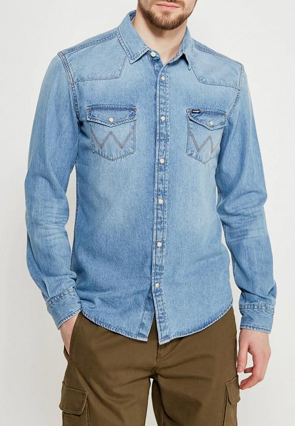Рубашка джинсовая Wrangler Wrangler WR224EMAPFG2 рубашка wrangler wrangler wr224emapff2