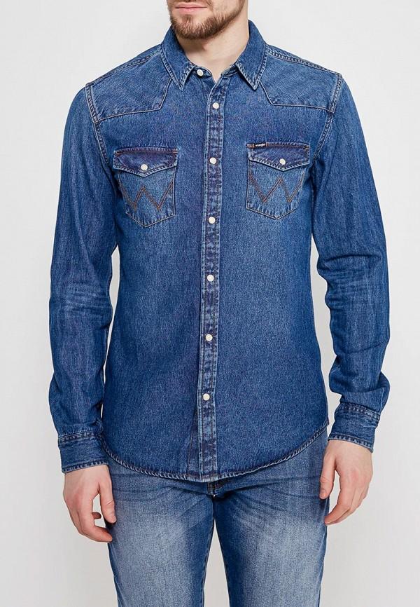 Рубашка джинсовая Wrangler Wrangler WR224EMAPFG3 рубашка джинсовая wrangler wrangler wr224emvhf26